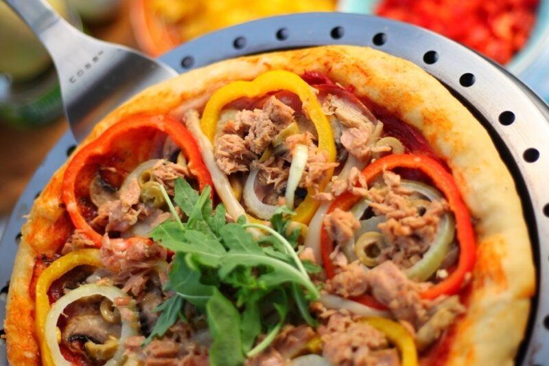 BBQ Recept fantasie pizza COBB