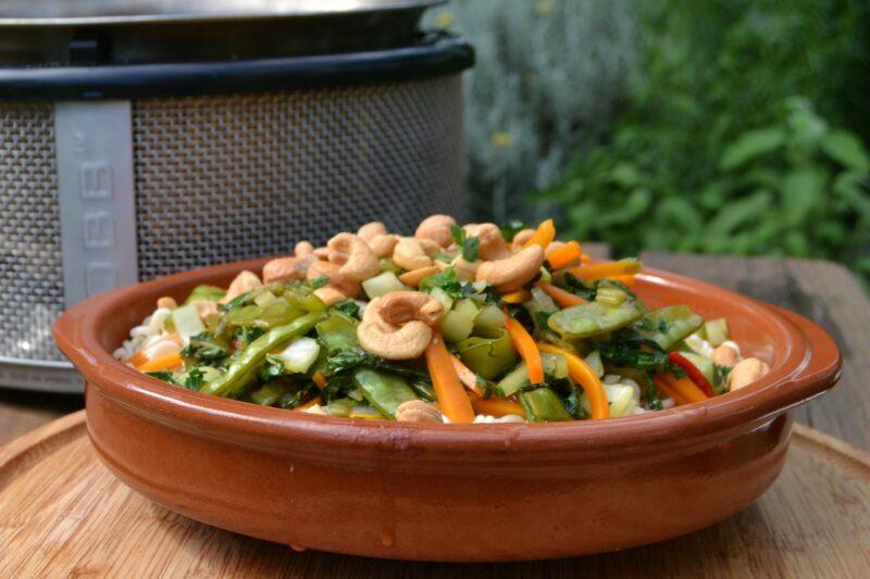 BBQ Recept Vegetarische roerbakschotel COBB
