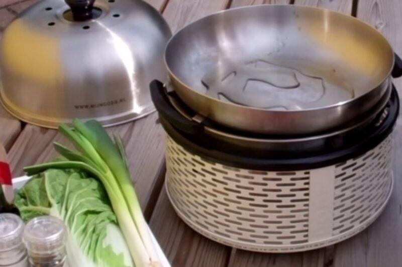 BBQ REcept Wokgerecht met garnalen COBB